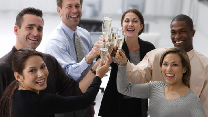 Business Associates Toasting Champagne --- Image by © Tom Grill/Corbis